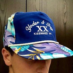 Retro Floral Kissimmee FL Trucker style hat